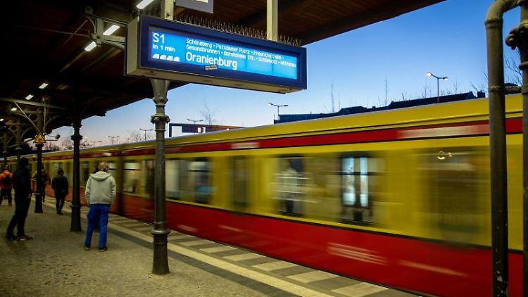 Eine S-Bahn fährt in den S-Bahnhof Friedenau ein. Foto: Kay Nietfeld/Archivbild