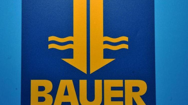 Das Logo der Bauer AG. Foto: Frank Leonhardt/Archivbild