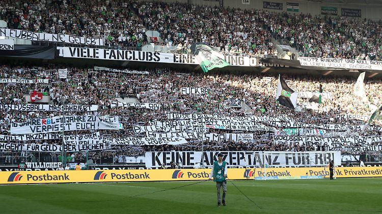 Ob Die Einen Iq Von Null Haben Gladbach Fans Sorgen Mit Plakat Für