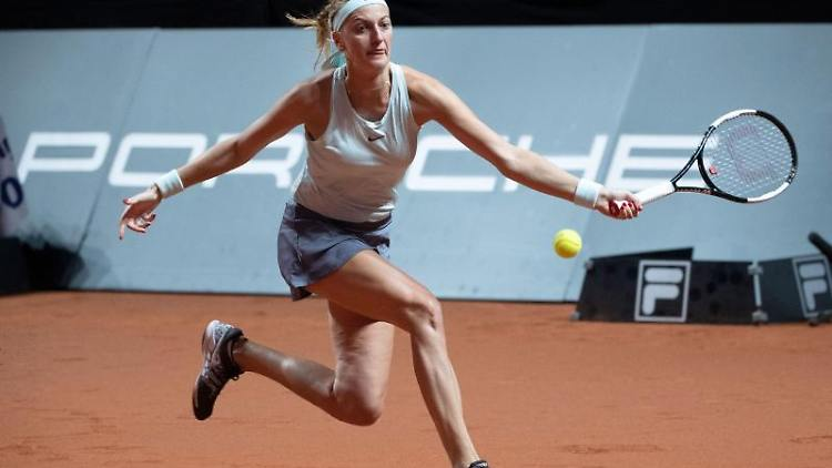 Petra Kvitova in Aktion. Foto: Marijan Murat