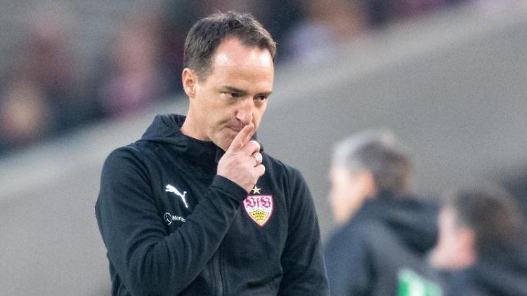 Stuttgarts Trainer Nico Willig. Foto: Sebastian Gollnow/Archivbild