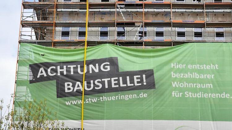 Baustelle eines Studentenwohnheims. Foto: Jens Kalaene/Archivbild