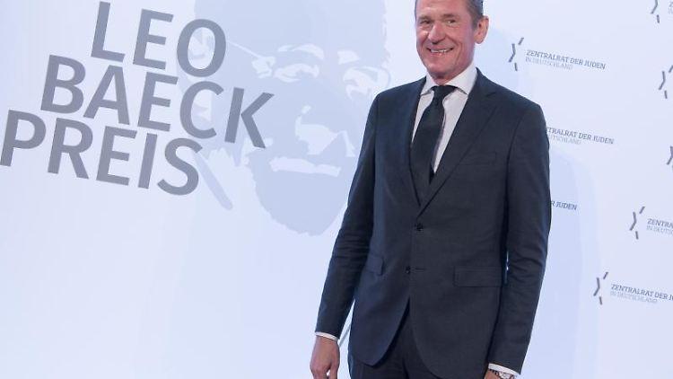 Mathias Döpfner, Vorstandsvorsitzenden der Axel Springer SE, kommt zur Verleihung des Leo-Baeck-Preises 2019. Foto: Jörg Carstensen