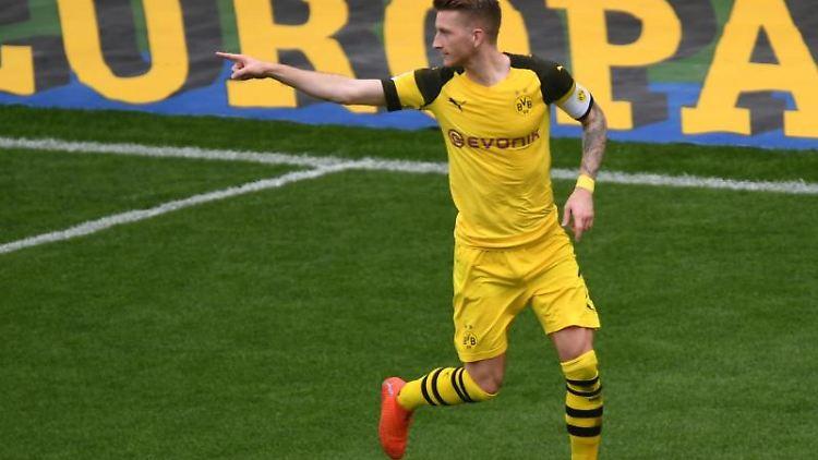 Marco Reus von Borussia Dortmund. Foto: Patrick Seeger/Archivbild