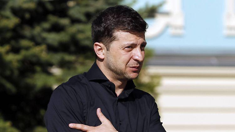 Selenskyj setzte sich in der Stichwahl mit 73 Prozent der Stimmen klar durch