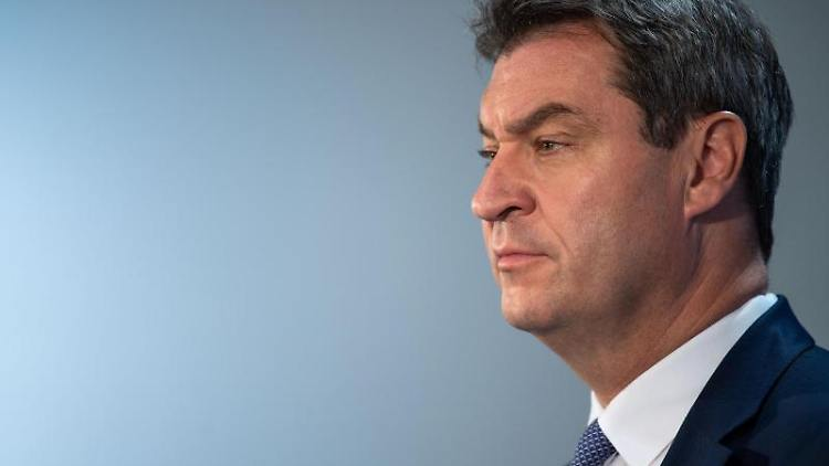 CSU-Chef Markus Söder gibt eine Pressekonferenz. Foto: Lino Mirgeler/Archivbild