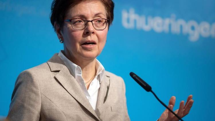 Thüringens Finanzministerin Heike Taubert. Foto: Michael Reichel/Archivbild