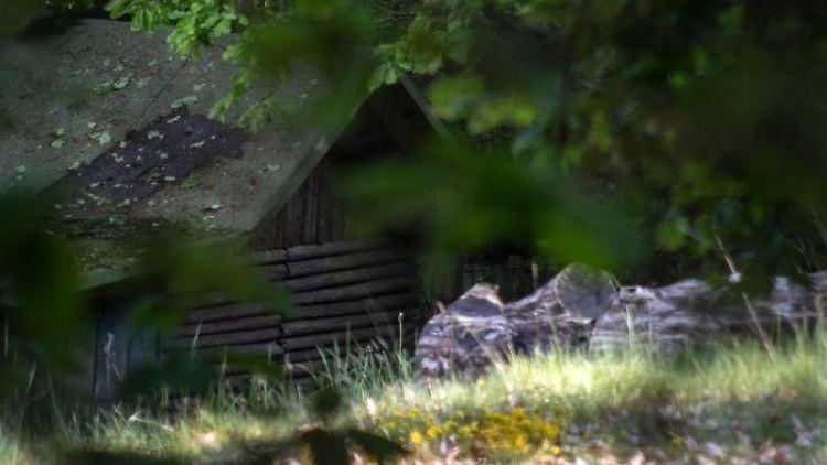 Die Gartenhütte, in der die Polizei Chemikalien gefunden hatte. Foto: Markus Kluemper