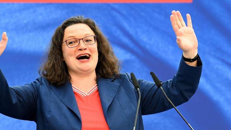 SPD-Parteichefin Andrea Nahles. Foto: Carmen Jaspersen