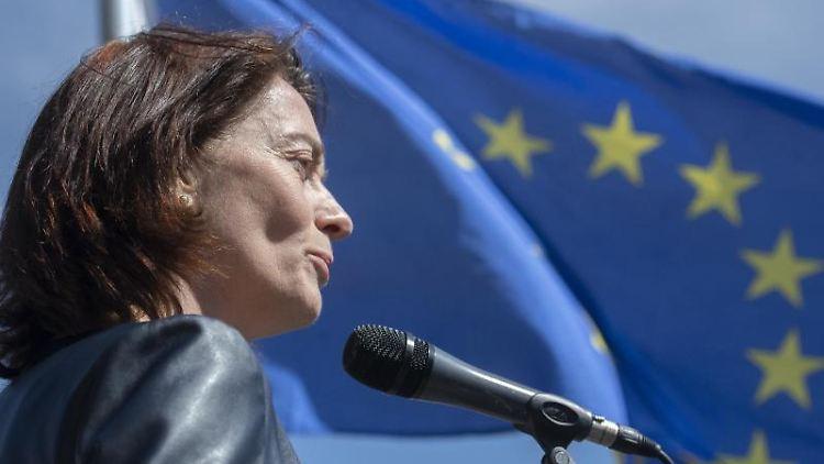 Katarina Barley, Spitzenkandidatin der SPD für die Europawahl. Foto: Paul Zinken/Archivbild