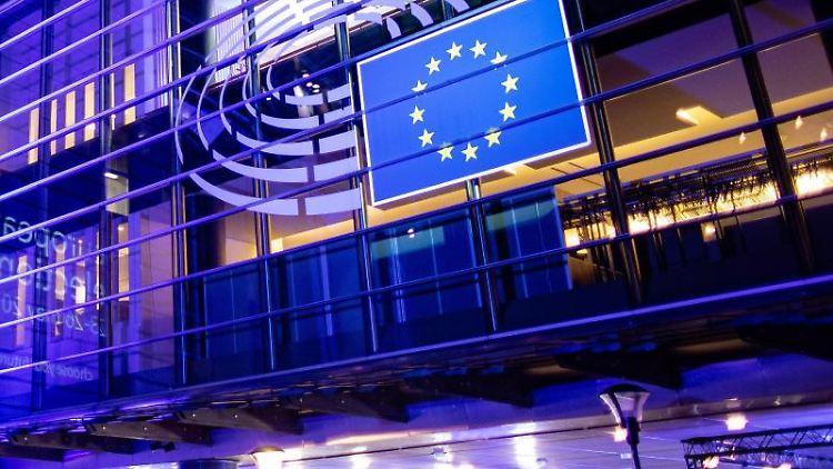Das Gebäude des Europäischen Parlaments. Foto: Marcel Kusch/Archivbild