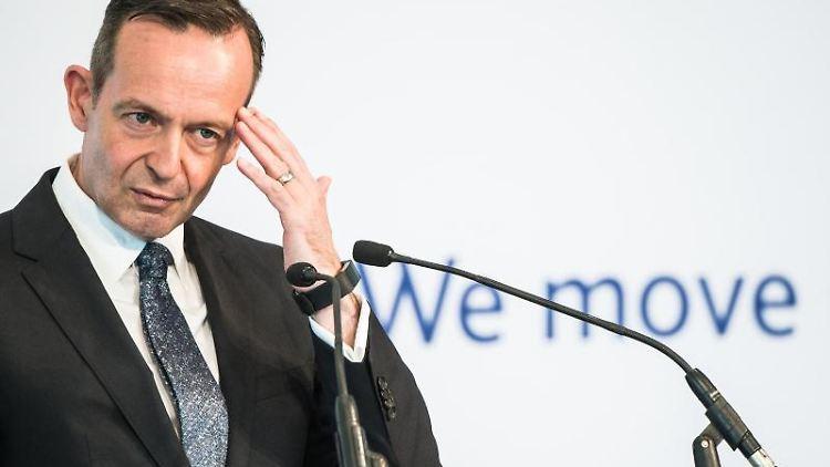 Volker Wissing (FDP), Verkehrsminister von Rheinland-Pfalz, spricht auf der Fachveranstaltung