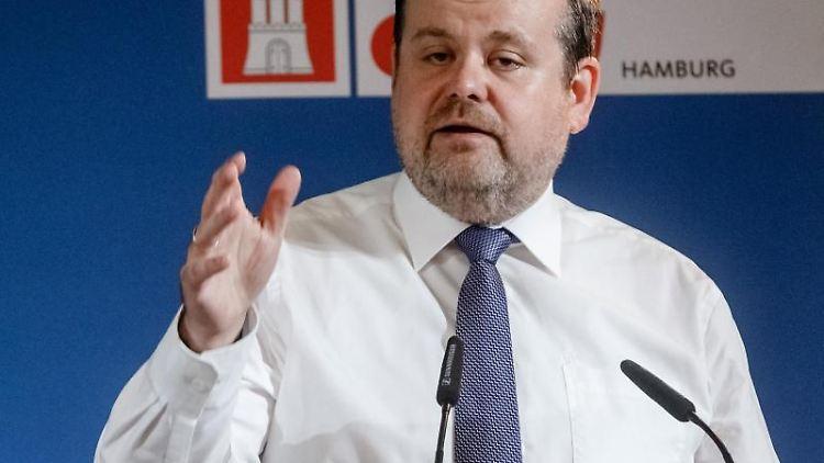 André Trepoll (CDU), Fraktionsvorsitzender in der Bürgerschaft, spricht auf dem Landesparteitag seiner Partei. Foto: Markus Scholz