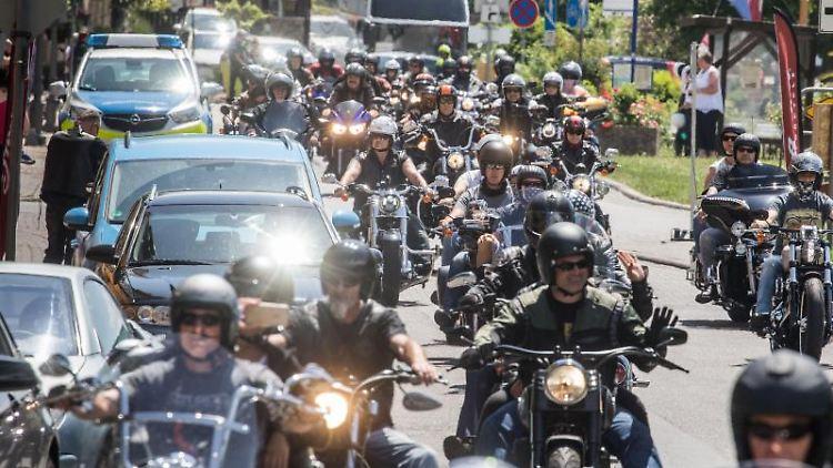Das Motorradfahrer-Treffen