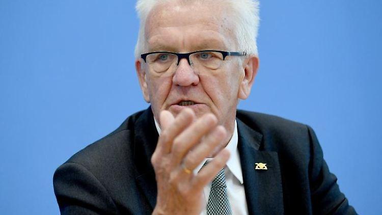 Winfried Kretschmann (Bündnis 90/Die Grünen), Ministerpräsident von Baden- Württemberg. Foto: Britta Pedersen/Archivbild