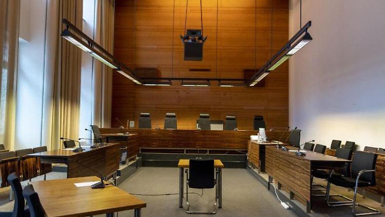 Der Gerichtssaal im Landgericht in Freiburg. Foto: Patrick Seeger/Archivbild