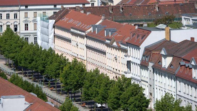 Die Innenstadt der brandenburgischen Landeshauptstadt Potsdam. Foto: Ralf Hirschberger/Archivbild