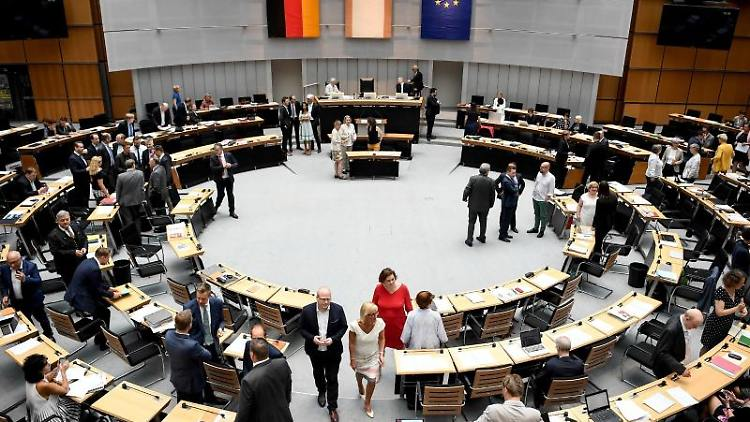 Berliner Abgeordnetenhaus erinnert an Mauerfall.Foto: Britta Pedersen