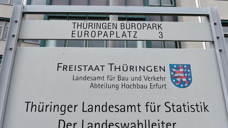 Der Sitz des Landesamtes für Statistik in Erfurt. Foto: Martin Schutt/Archivbild