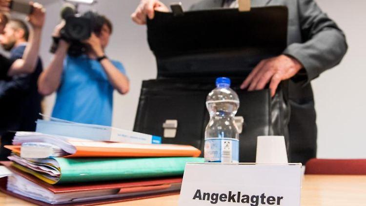 Detlef H., Angeklagter und früherer Leiter der Lübecker Außenstelle der Opferschutzorganisation Weißer Ring. Foto:Daniel Bockwoldt/Archivbild