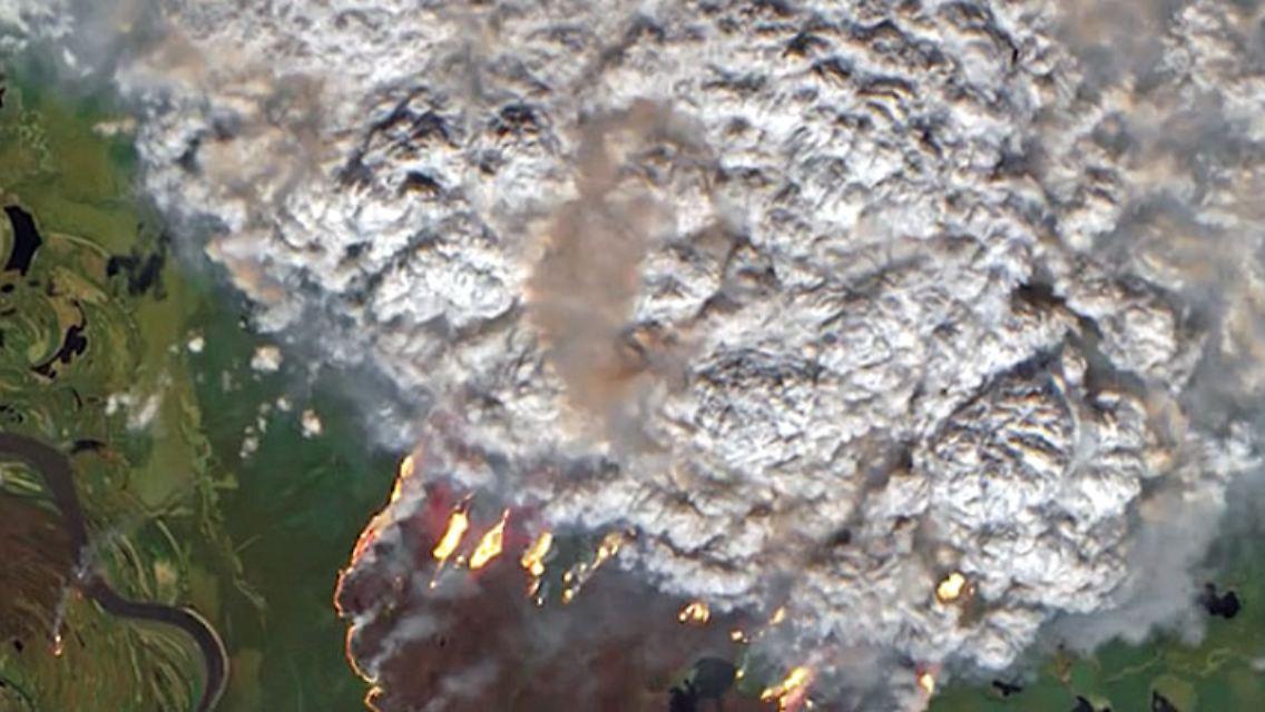 brand in der arktis