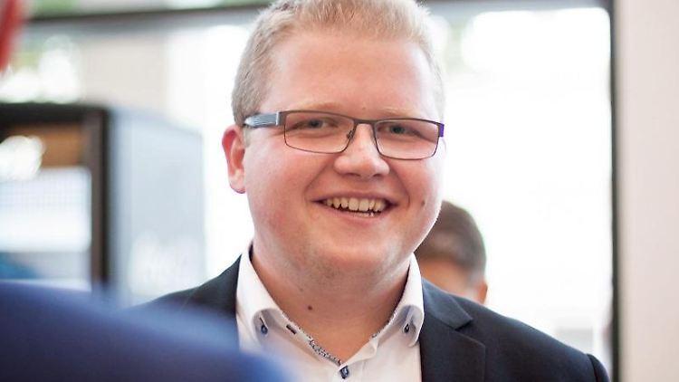 Sebastian Sommer, neuer Vorsitzender der hessischen Jungen Union (JU). Foto: Junge Union/Frederic Schneider/Archivbild