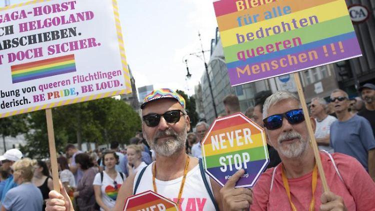 Teilnehmer der CSD-Parade in Berlin. Foto: Paul Zinken