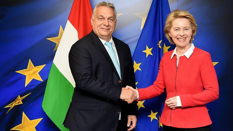 Von der Leyen traf Unterstützer Orban