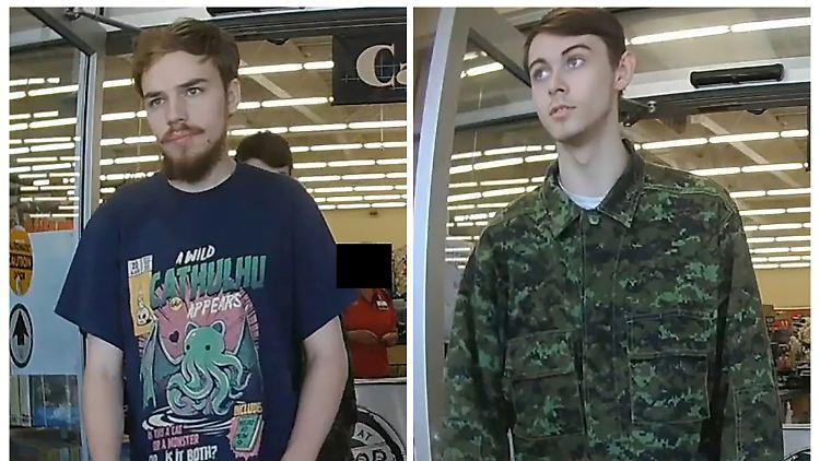 Das Fahndungsfoto der beiden Tatverdächtigen Kam McLeod, 19, und Bryer Schmegelsky, 18.