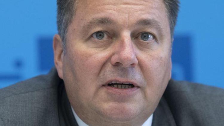 Andreas Geisel (SPD), Innensenator von Berlin, beantwortet Fragen von Journalisten.Foto: Paul Zinken/Archivbild