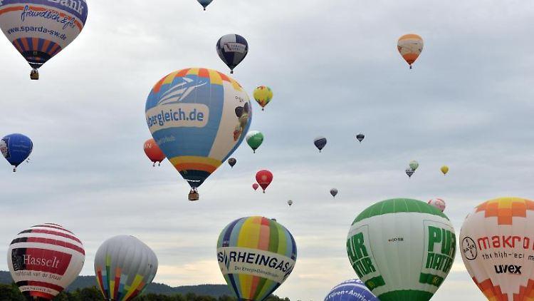 Heißluftballon-Treffen.Foto: Harald Tittel/Archivbild