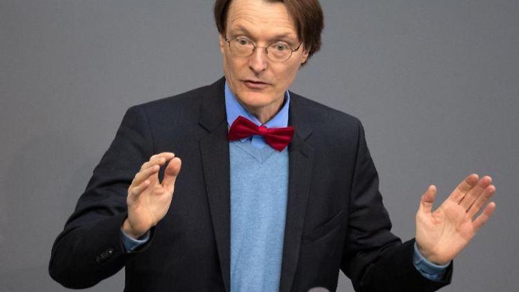 Karl Lauterbach, SPD-Abgeordneter im Deutschen Bundestag.Foto:Ralf Hirschberger/Archivbild