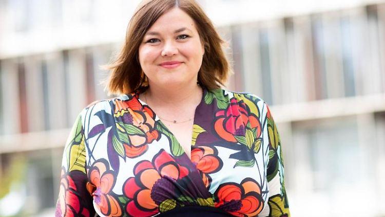 Katharina Fegebank (Bündnis 90/Die Grünen), Hamburgs Zweite Bürgermeisterin und Senatorin für Wissenschaft. Foto:Christian Charisius