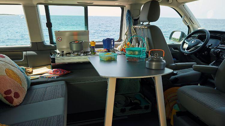 Jetzt auch mit Miniküche: VW California 6.1 präsentiert sich ...