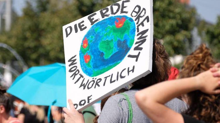 """Teilnehmer der Klimademonstration """"Fridays for Future"""". Foto:Sebastian Willnow/Archivbild"""