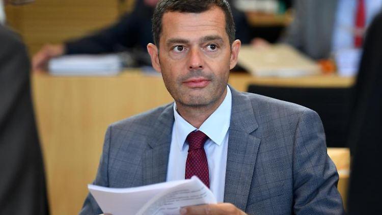 Mike Mohring, CDU-Fraktionschef, im Thüringer Landtag. Foto: Martin Schutt/Archivbild