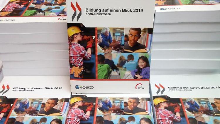 Vor der Bundespressekonferenz wird die OECD-Studie