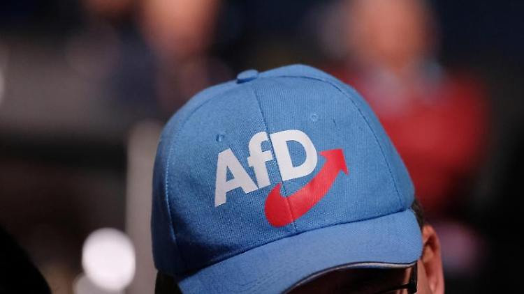 Mann mit AfD-Hut. Foto: Sebastian Willnow/Archivbild