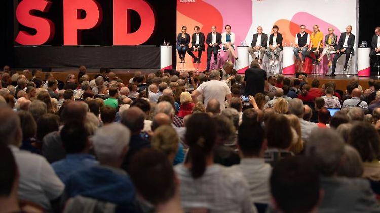 Die SPD-Regionalkonferenz in Filderstadt. Foto: Marijan Murat