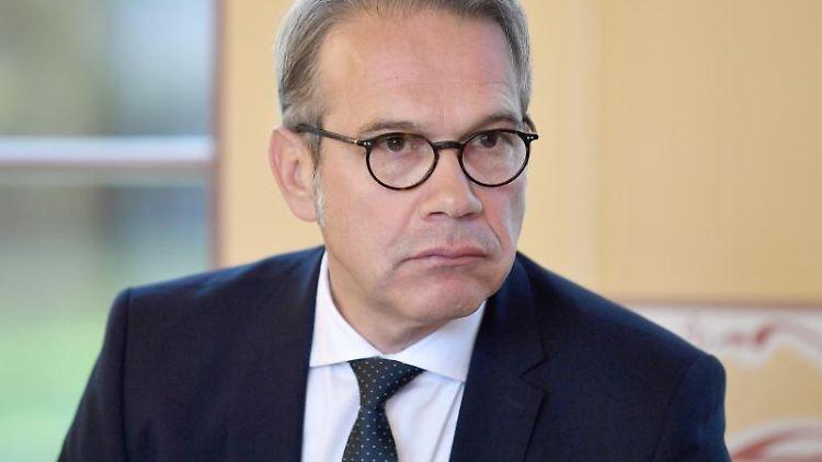 Georg Maier, Innenminister von Thüringen. Foto: Martin Schutt/Archivbild