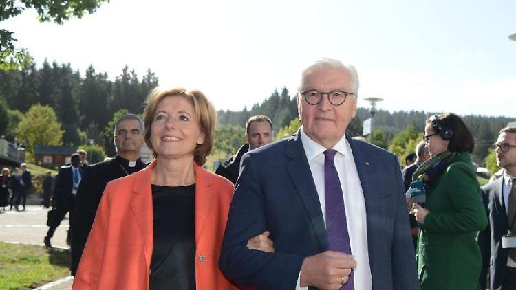 Malu Dreyer und Frank-Walter Steinmeier (beide SPD). Foto: Harald Tittel