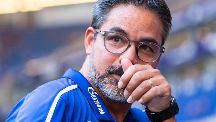 Schalkes Trainer David Wagner. Foto: Guido Kirchner/Archivbild