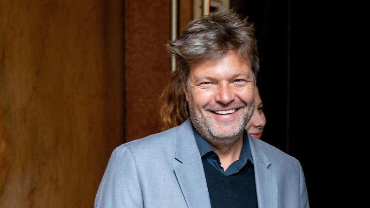 Robert Habeck, Bundesvorsitzender von Bündnis 90/Die Grünen. Foto:Kay Nietfeld/Archivbild