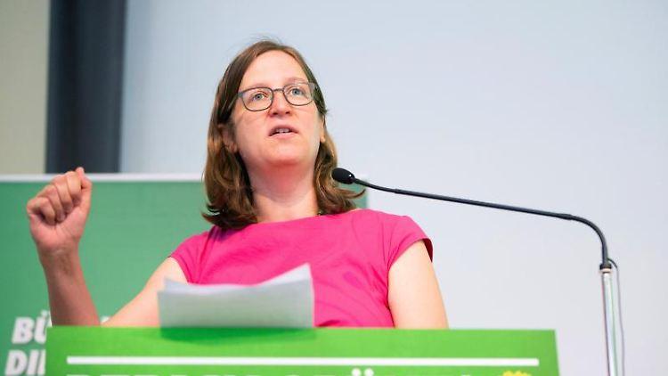 Silke Gebel, Fraktionsvorsitzende von Bündnis 90/Die Grünen im Abgeordnetenhaus. Foto: Christoph Soeder/Archivbild