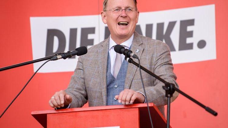 Bodo Ramelow (Die Linke), Ministerpräsident von Thüringen. Foto:Matthias Balk