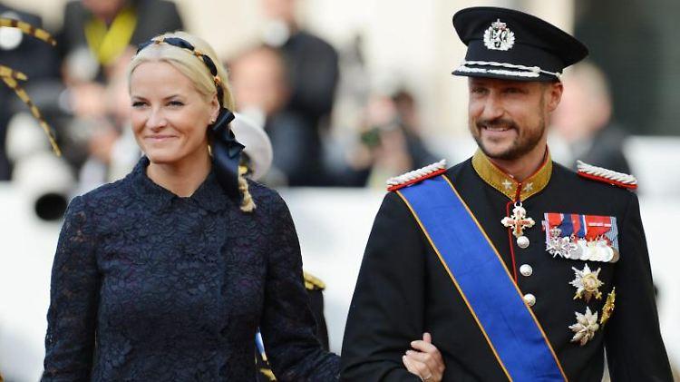 Kronprinzessin Mette-Marit und Kronprinz Haakon von Norwegen. Foto: Frank May/dpa