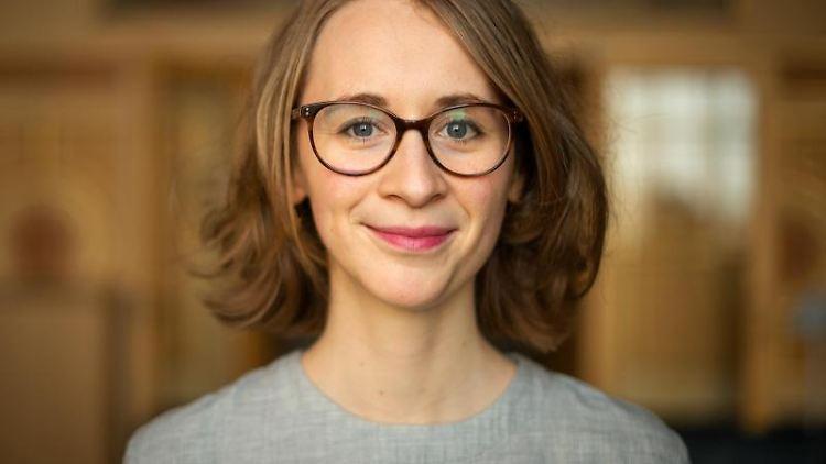 Eva Lettenbauer,Landtagsabgeordnete inBayern und Kandidatin für den Vorsitz der bayerischen Grünen.. Foto: Sina Schuldt/dpa
