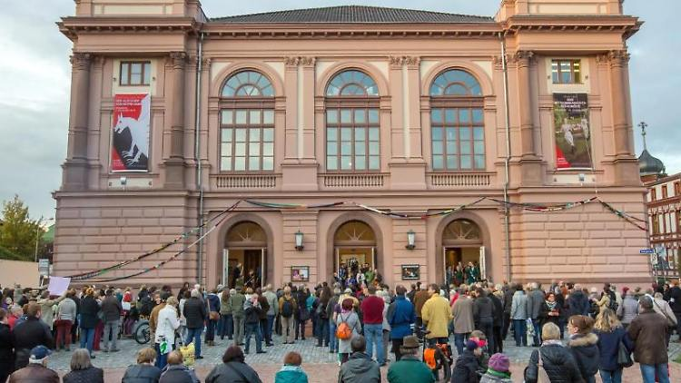 Das Landestheater Eisenach. Foto: arifoto UG/dpa-Zentralbild/dpa/Archivbild