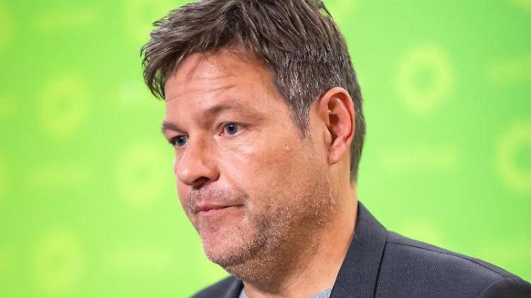 Robert Habeck, Bundesvorsitzender von Bündnis 90/Die Grünen, äußert sich bei einer Pressekonferenz. Foto: Bernd von Jutrczenka/dpa/Archivbild