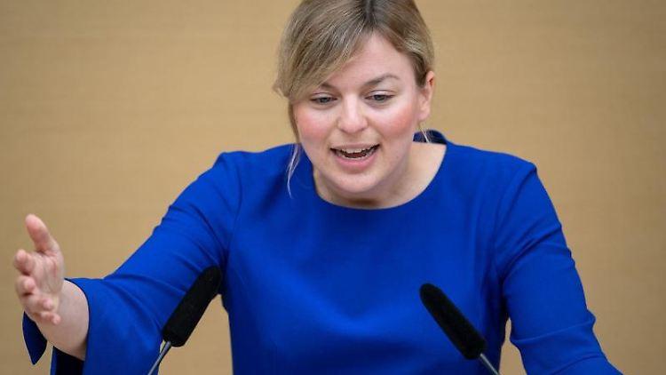 Katharina Schulze, bayerische Fraktionsvorsitzende der Fraktion Bündnis 90/Die Grünen. Foto: Sina Schuldt/dpa/Archiv